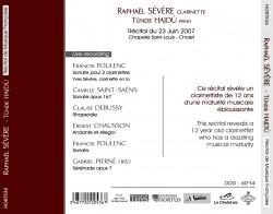 CD Raphaël SEVERE verso