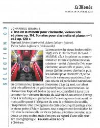 Le Monde 28 octobre 2014